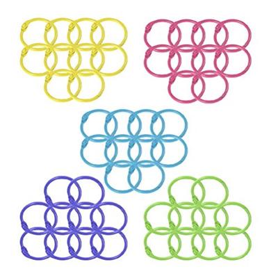 Qoo10 - Haodeba 50 Pcs Multi-color Metal Loose Paper Leaf Binder ...