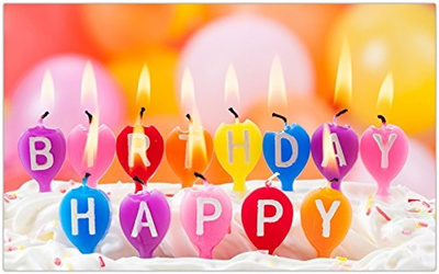 Happy Birthday Candles Candle Light Travel Sites Postcard Post Card