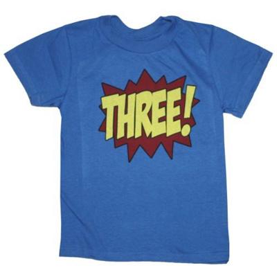 Happy Family Clothing Superhero Third Birthday Kids T Shirt 4T Royal