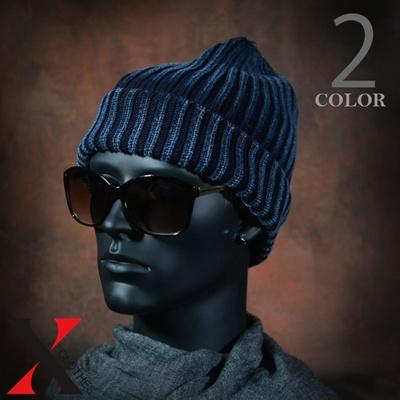 05db03dd900 Qoo10 - Hat Men s knit watch cap Denim denim yarn rib rib knit cotton  Indi...   Men s Bags   Sho.