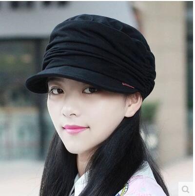 870786288c0 Hat winter fold Korean fashion cap cotton hat women hat flat spring and  autumn wild fashion