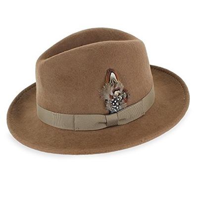 Qoo10 - Hats in the Belfry Belfry Bogart Mens Vintage Style Dress Fedora Hat  1...   Men s Bags   Sho. 93ad5a60afec