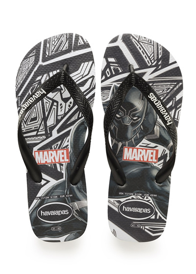 53cef9a47bee Qoo10 - Havaianas Top Marvel Black Panther Sandal Black   Men s Bags ...