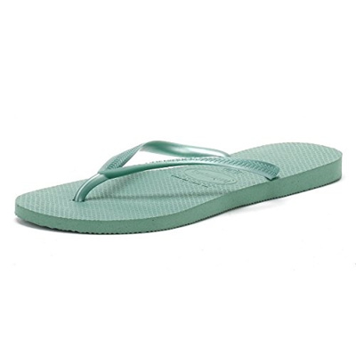9dd98b1c88f44 Qoo10 - (Havaianas) Havaianas Womens Green Tea Slim Flip Flops-   Shoes