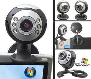 Hd Computer Camera with a Microphone Night Vision Video USB Cmos Web Cam Desktop Microphone