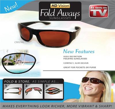 HD Vision Fold Aways Outdoor Sport High Definition Sunglasses Deluxe-  Single - Kacamata Lipat - 1885a0e90b