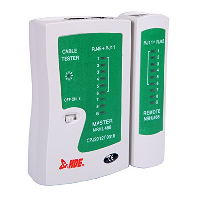 HDE RJ45 RJ11 RJ12 Cat5 Cat6 UTP Network Cable Tester for LAN Phone Wire  Test Tool