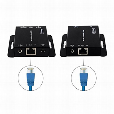 HDMI Extender Cat6,Rongyuxuan Video Network Extender Over Ethernet Single  CAT6e /7 Cable 1080p with
