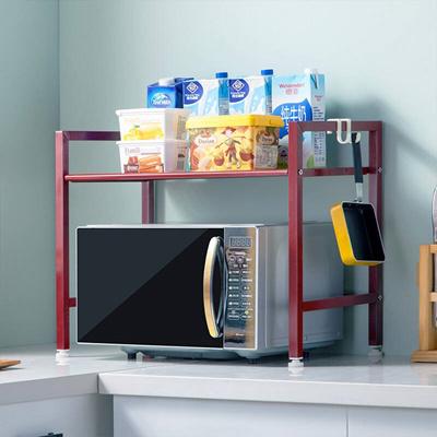 Heart Home Ikea Kitchen Rack Microwave Rack Metal Oven Rack Kitchen Storage Rack Fashion Seasoning R