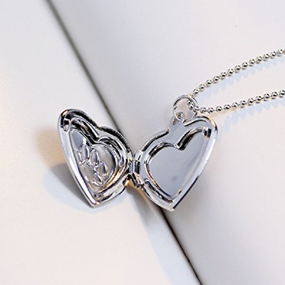 silver sterling memorial lockets heart photo jewelry locket pet print paw