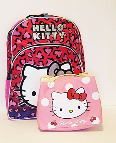 Qoo10 - Hello Kitty Backpack with Insulated Lunch Bag Back to School Set    Kitchen   Dining e46cf9a00d4f7
