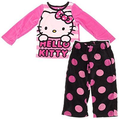 20850d40a Qoo10 - Hello Kitty Big Girls Polka Dots Fleece Pajamas 8 : Kids Fashion