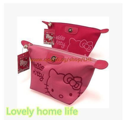 Qoo10 - hello Kitty cartoon waterproof travel cosmetic bag large capacity  stor...   Furniture   Deco 560cec783988c
