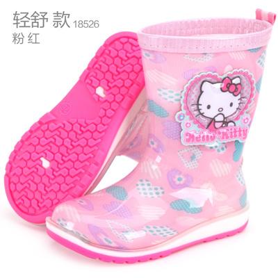 2740212a4 Hello Kitty child Rain boots Girls Four Seasons non-slip rubber boots pupil