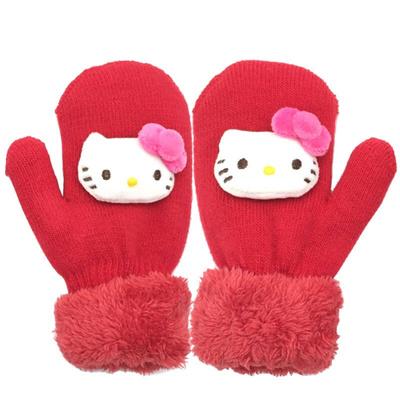a1cfaa239 Qoo10 - Hello Kitty children warm gloves Autumn Winter baby gloves cute kid  gl... : Kids Fashion