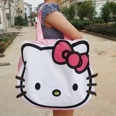 7bd4696627e Qoo10 - Hello Kitty Cute and Big Large Messenger Tote Bag Pink Shoulder  Hand C...   Bag   Wallet