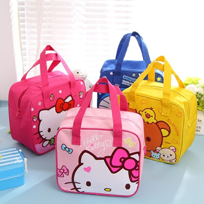 Qoo10 - Hello Kitty cute cartoon insulated lunch bag lunch box bag canvas  tote...   Furniture   Deco 8b44051c57004
