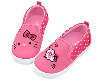 867ee0617 Qoo10 - Hello Kitty Face Girls Slip-On Sneaker Pink Shoes (Toddler/Youth)  (1 M... : Kids Fashion