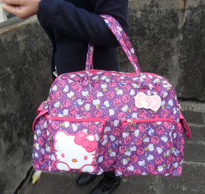 4c7f3cb6cc7e Qoo10 - Hello Kitty fashion savvy bag large capacity luggage travel bag MOM  fl...   Kids Fashion
