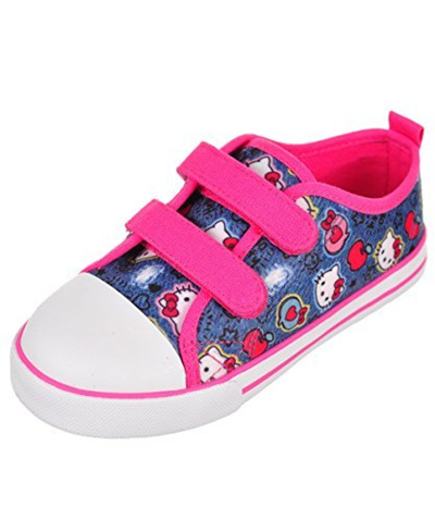 Qoo10 - Hello Kitty Girls Sneakers - denim blue ead96d287