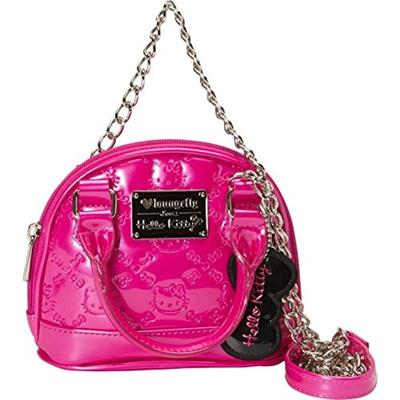 30dfb4c417 Qoo10 - Hello Kitty HK Leopard Embossed Micro Dome Top Handle Bag   Bag    Wallet