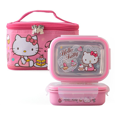 bb7764e63b Qoo10 - ☆[Lock n Lock] Hello Kitty Lace Stainless Lunchbox☆ lunch box /  lunch ... : Kids Fashion