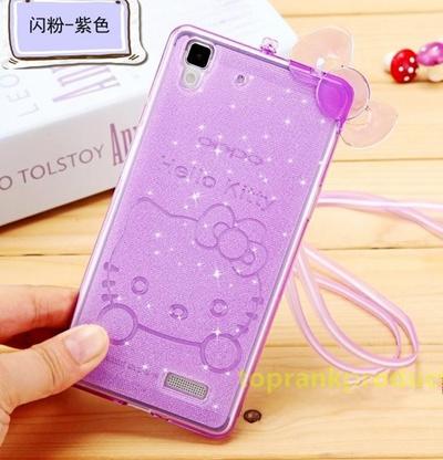 more photos d95ee 6a3e2 Hello Kitty OPPO R7S R7 Lite Plus Flash Powder TPU Case Cover Casing