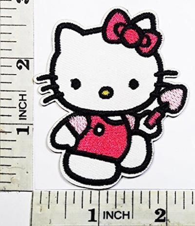 Qoo10 Hello Kitty Pink Bow Cat Cartoon Kid Patch Symbol Jacket T