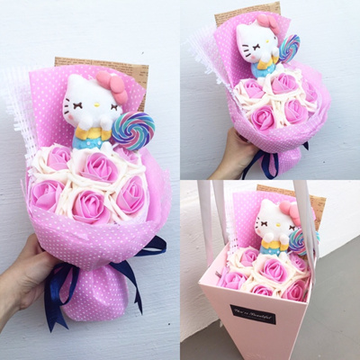 4857d67a4 Qoo10 - 🌸 Hello Kitty Plush Toy Bouquet : Women's Clothing