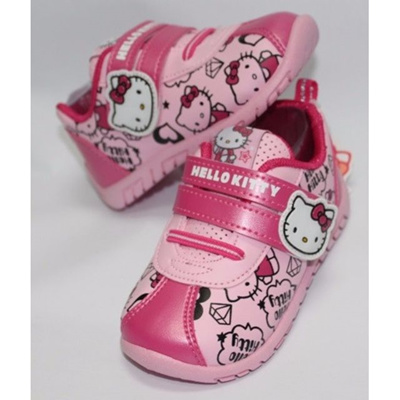 36e1de722 [READY STOCK IN SG] HELLO KITTY KIDS SHOES-PINK WITH BLACK K 713510