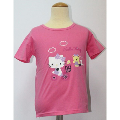 c16af21f [READY STOCK IN SG] HELLO KITTY KIDS TOP / T-SHIRT DARK PINK