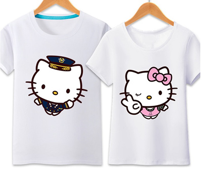 Qoo10 hello kitty t shirts suitable for couple women s for Hello kitty t shirt design