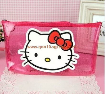 Qoo10 - Hello Kitty Transparent Pink Princess pen bag cosmetic bag Lovely  home...   Furniture   Deco f5f8ad649bae2