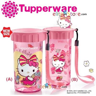 97aee1c37 TUPPERWARE Hello Kitty Flask 310ml Eco Water Bottle School Bottle Bag Life  Warranty