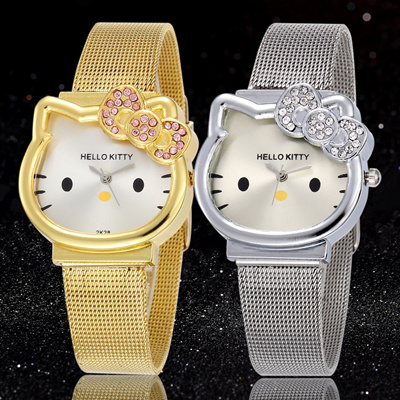 Qoo10 - Hello Kitty Watch Cartoon Clock Girl Children Lovely Wrist Watches  Kid...   Men s Bags   Sho. 2e11f7b7ba