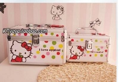 Hello Kitty yang indah koper kotak makeup makeup tas kotak kosmetik produk perawatan kulit kotak yang
