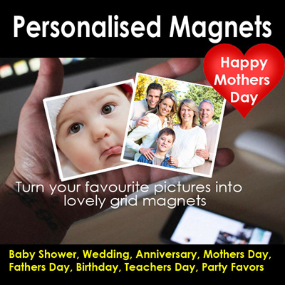 Helloimd♥PERSONALISED MAGNETS Mothers day Gift Mom Dad Baby Wedding Travel Anniversary Love