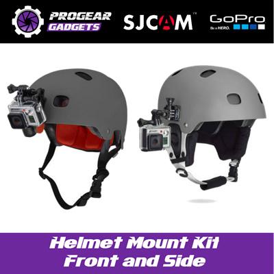 Qoo10 Helmet Mount Kit Front And Side For Gopro Hero 4332