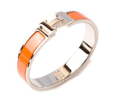 f9d00ffe43f Hermes bangle / bracelet HERMES click crack H bangle orange / silver [pre]