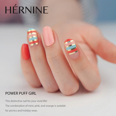 Hernine Diy Gel Nail Sticker Premium Quality Manicure Pedicure 52types Made In Korea