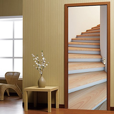 HICBOX 3D Staircase Door Stickers Home Decoration Murals 30 W X 79 H  (77CMx200CM)