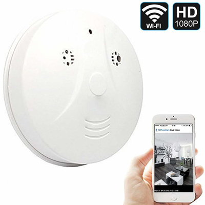 Hidden Spy Camera Wifi Smoke Detector Camera Dvr Mini Nanny Cam With Motion Detection For Home Secu