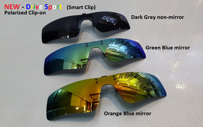 42146791392 High Definition + Sharp Vision Polarized Clip-on Sunglass for all Spectacle  Frames  Driving