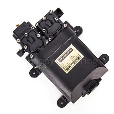 High Pressure Double Head 100W Diaphragm Water Pump 12V 0 85Mpa Electric  Sprayer Pump 8L/MIN Flow