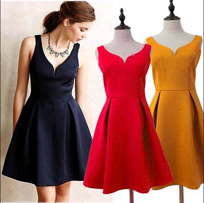 Qoo10 High Quality Audrey Hepburn Style Heart Collar Party Dress