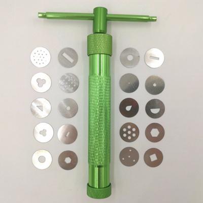 Stainless Steel Sugar Paste Extruder Gun Home DIY Baking Polymer Clay Tools QA
