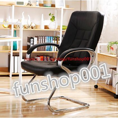 qoo10 high quality home study leather boss chair fixed chair
