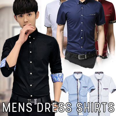 d97bb21507c71 Qoo10 - High Quality Mens Dress Shirts! short-sleeved items Q10 Mens ...