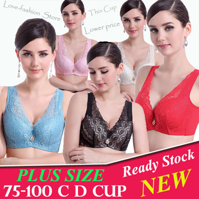 c7954aaeab High quality Sexy Plus Size Lace Bras Thin Cup bigger size bra  Underwear Deep