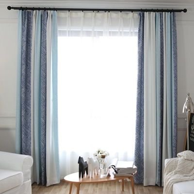 High Quality Striped Blackout Curtains Customized Free Hooks